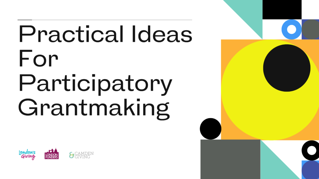 Text saying: practical ideas for participatory grantmaking